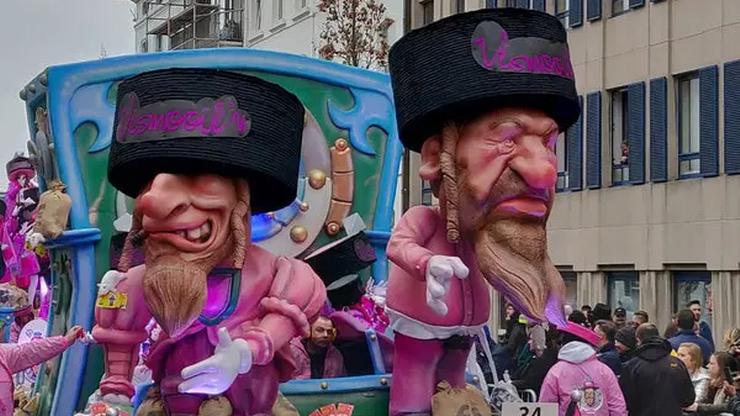 Karykaturalne postaci z pejsami i dużymi nosami. Belgijski festiwal usunięty z listy UNESCO