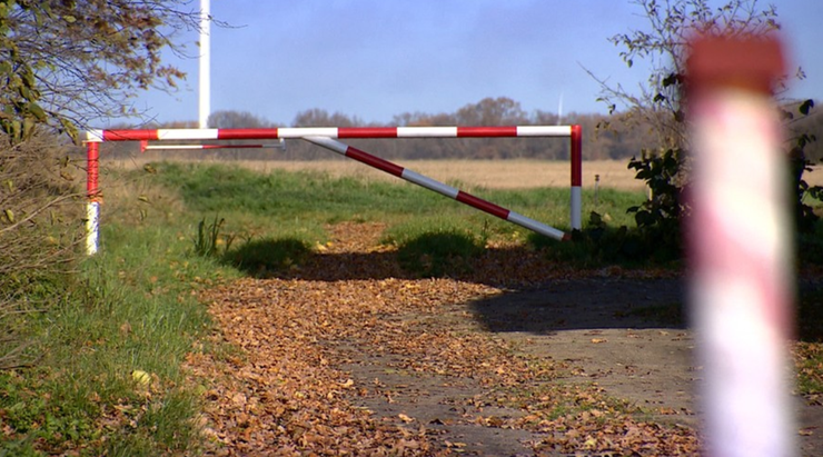 Wójt postawił szlaban na polnej drodze. Krowy mają chodzić szosą