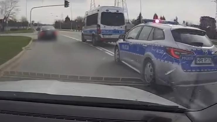 Uciekał przed policją przez autostradę i podziemny parking. Miał narkotyki [WIDEO]