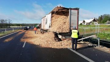 Zderzenie ciężarówek na obwodnicy Olsztyna. Trasa zablokowana w kierunku Warszawy