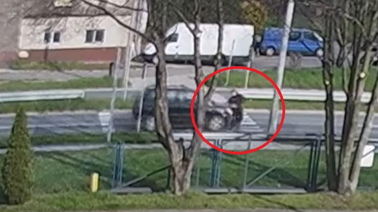 Pieszy potrącony na przejściu dla pieszych. Przeleciał kilka metrów