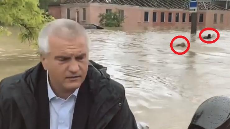 Powódź na Krymie. Kamery zarejestrowały niecodzienny widok