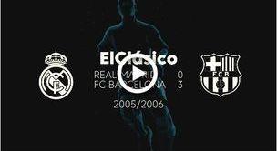 Historia el Clásico: Real 0 - 3 Barça (sezon 2005/06)