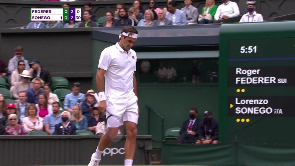 Roger Federer - Lorenzo Sonego